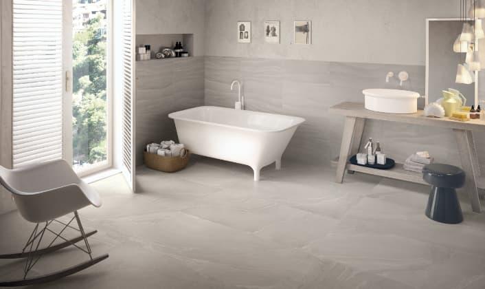 Gres porcelánico-Provenza-Zerodesign AsianGrey 60x120 - GobiGrey 30x60 Amb B