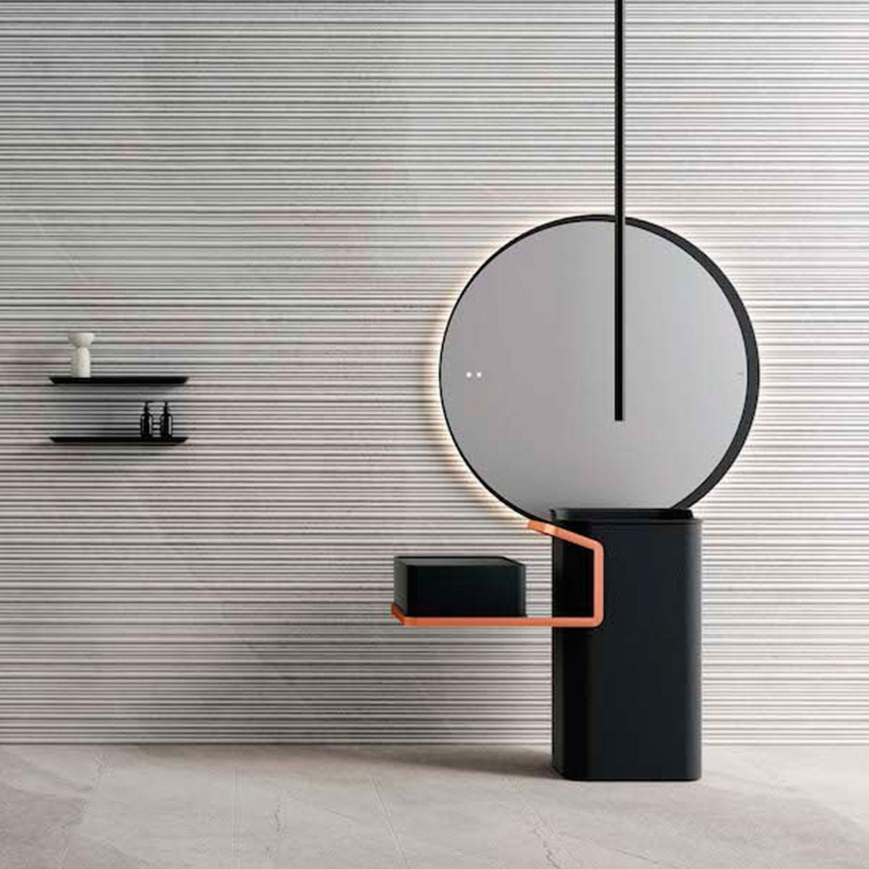 Mueble de baño de diseño con espejo Fiora