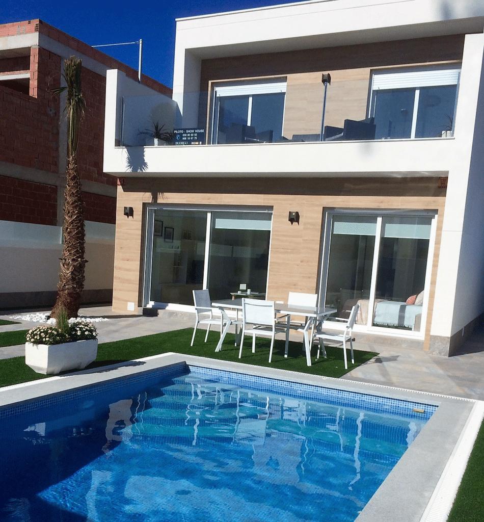 piscina vivienda unifamiliar en san pedro del pinatar