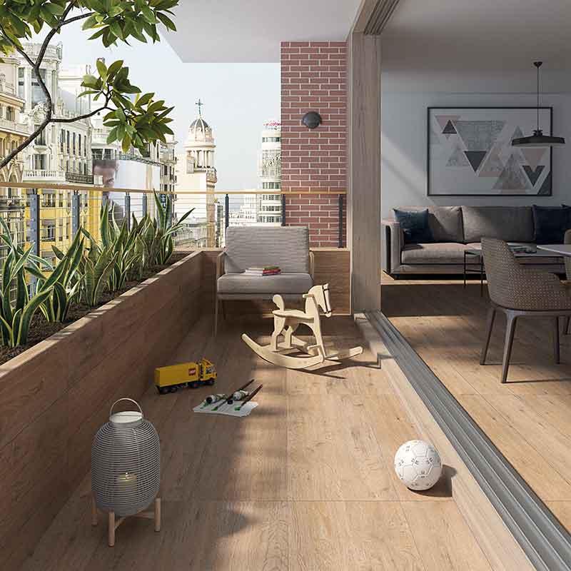Suelo de madera porcelánico para interior y exterior VIVES BOWDEN