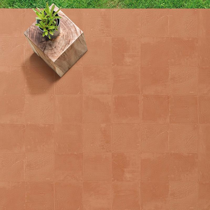 Azulejos y pavimentos porcelánicos para jardín y terraza de estilo rústico Dune Ceramics Terracota Teja
