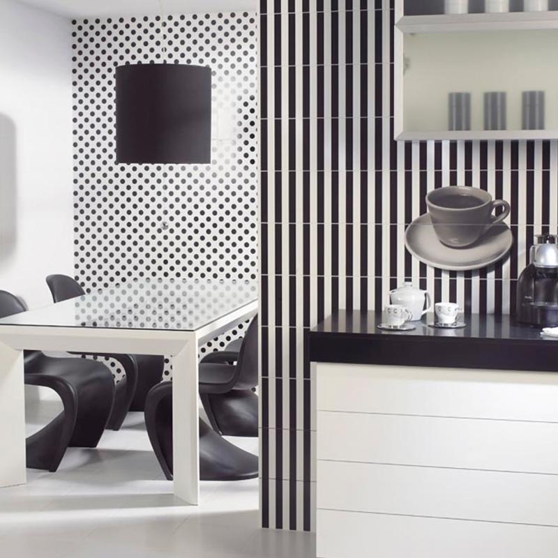 Azulejos y pavimentos para cocina revestida Vives Cerámica pasta roja efecto blanco mate 10x20