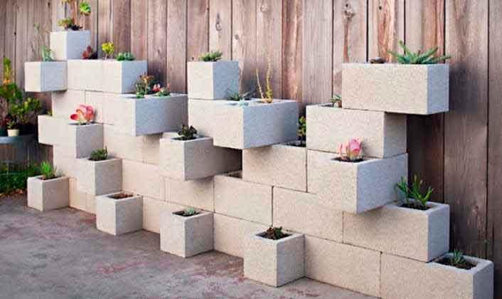 juego de bloques de hormigón y cemento decorativos