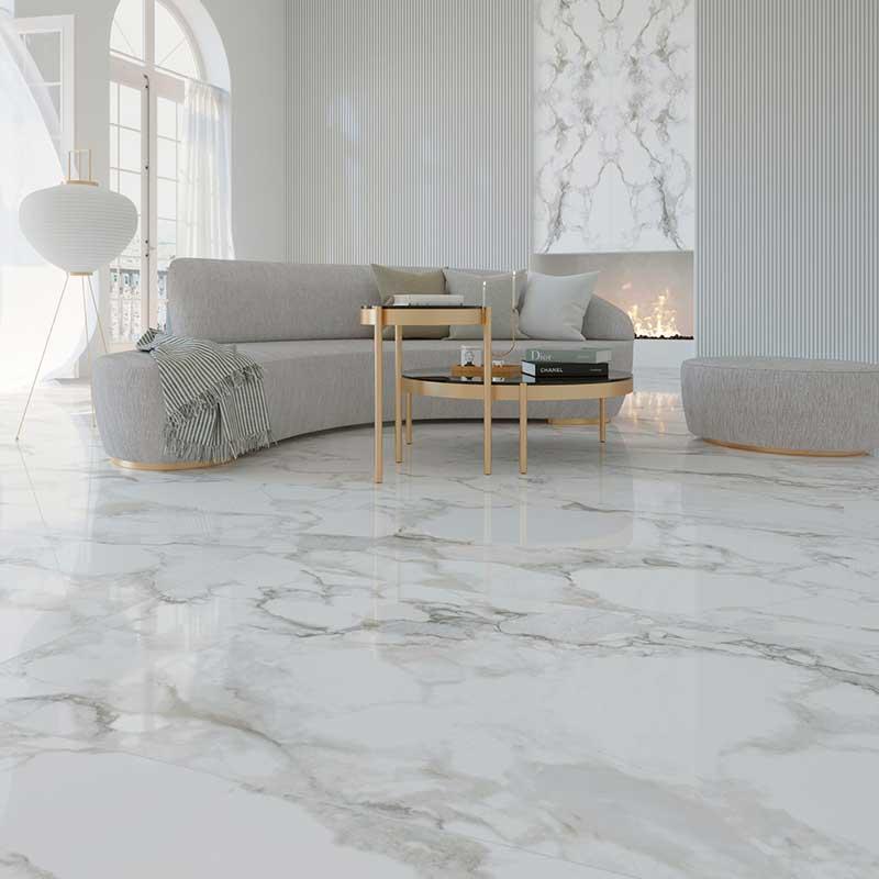 Suelo porcelánico imitación mármol