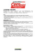 LATERLITE -Recrecido Ligero Latermix Cem Mini (Ficha Técnica)