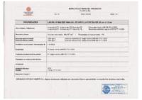CERAMICAS ANTONIO ALEMAN – Ladrillo Manual 3x12x25 (Ensayos)