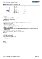 GEBERIT – Bastidor Geberit Duofix para bidé, 82 cm 111.537.00.1 (Ficha Técnica)