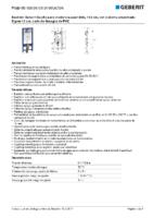 GEBERIT – Bastidor Geberit Duofix para inodoro suspendido, 112 cm 111.374.00.5 (Ficha Técnica)