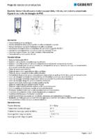 GEBERIT – Bastidor Geberit Duofix para inodoro suspendido, 114 cm 111.791.00.1 (Ficha Técnica)