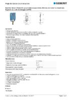 GEBERIT – Bastidor Geberit Kombifix para inodoro suspendido, 109 cm 110.793.00.1 (Ficha Técnica)