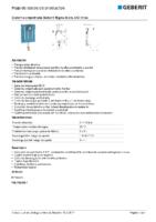 GEBERIT – Cisterna empotrada Geberit Sigma 8 cm, 6-3 litros 109.790.00.1 (Ficha Técnica)
