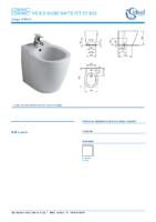 IDEAL STANDARD – Connect E799501 Bide f s 54×36 white 1ct of bxd (FichaTécnica)