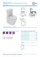 IDEAL STANDARD – Connect space E119601 Inodoro cc pan ho white btw cc bxd (FichaTécnica)