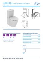 IDEAL STANDARD – Connect space E119601 Inodoro cc pan ho white btw cc bxd (FichaTécnica)