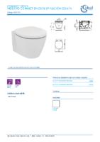 IDEAL STANDARD – Connect space E121701 Inodoro susp fijacion oculta (FichaTécnica)