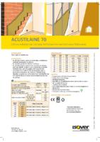 ISOVER – Acustilaine 70 (Ficha Técnica)