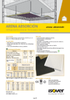 ISOVER – Arena Absorcion (Ficha Técnica)