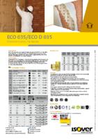 ISOVER – Eco 035- Eco D 035 (Ficha Técnica)