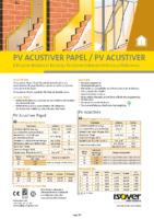 ISOVER – PV Acustiver papel – PV Acustiver (Ficha Técnica)