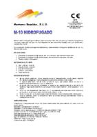 MORTEROS REUNIDOS – Mortero M10 HF (Ficha Técnica)