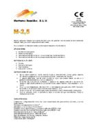 MORTEROS REUNIDOS – Mortero M2,5 (Ficha Técnica)