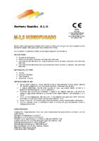 MORTEROS REUNIDOS – Mortero M2,5 HF (Ficha Técnica)