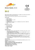 MORTEROS REUNIDOS – Mortero M5 (Ficha Técnica)