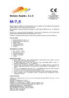 MORTEROS REUNIDOS – Mortero M7,5 (Ficha Técnica)