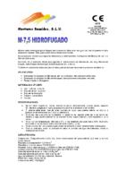 MORTEROS REUNIDOS – Mortero M7,5 HF (Ficha Técnica)