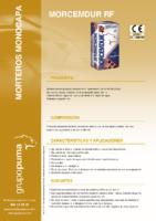 PUMA – Mortero Monocapa Morcemdur RF (Ficha Técnica)
