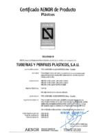 TUYPER – Tubo PVC teja estruct sin presión EN-13476 (AENOR)