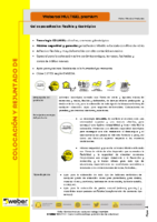 WEBER – Cemento cola webercol multigel premium (Ficha Técnica)