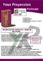 YESOS RUBIO – Yeso de Proyección Perlirubit (Ficha Técnica)