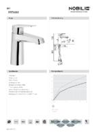 DIVA – Milano mm lavabo (Ficha Técnica)