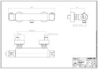 DIVA – Milano termostática ducha (Ficha técnica)