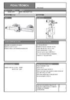 DIVA – Tender termostática baño-ducha 106900-106700 (Ficha Técnica)