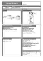 DIVA – Tender termostática ducha 131900-131700 (Ficha Técnica)