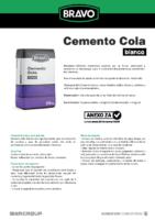 BRAVO – Cemento Cola Blanco (Ficha Técnica) (CP)
