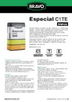 BRAVO – Cemento Cola Especial Blanco C1 TE (Ficha Técnica) (CP)
