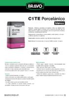 BRAVO – Cemento Cola Especial Porcelanico Blanco C1 TE (Ficha Técnica) (CP)