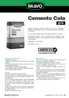 BRAVO – Cemento Cola Gris (Ficha Técnica) (CP)