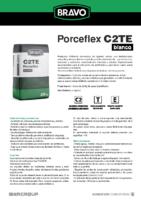 BRAVO – Cemento Cola Porceflex Blanco C2 TE (Ficha Técnica) (CP)