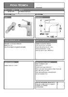 DIVA – Natura mm lavabo ecológico 87700 (Ficha Técnica)