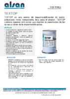 SOPREMA – Impermeabilización líquida Pu + Betún Textop (Ficha Técnica)