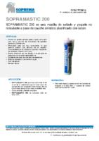 SOPREMA – Masilla Asfáltica Sopramastic 200 (Ficha Técnica)
