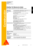 SIKA – SikaTop-50 Resina Unión (Ficha Técnica)