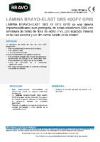 BRAVO – Tela Asfáltica LBM-40-G-FV PIZARRA GRIS SBS (-15ºC) (Ficha Técnica)