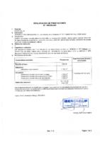 Declaración de prestaciones Bravo Gel S2