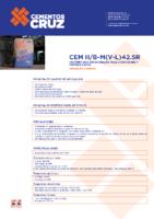 Cementos La Cruz – Cemento Gris II B-M (V-L) 42.5 R (Ficha Técnica)