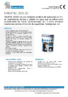 SOPREMA – Impermeabilización líquida Emufal Solid (Ficha Técnica)